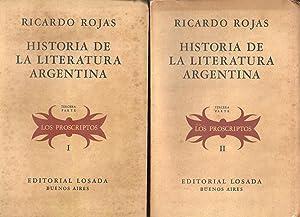 HISTORIA DE LA LITERATURA ARGENTINA Los Proscriptos: RICARDO ROJAS