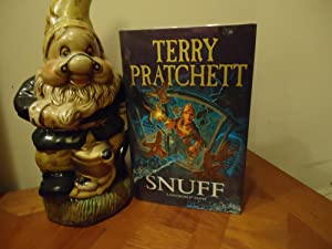 SNUFF+++SIGNED WITH STAMP AND HOLOGRAM+++FIRST EDITION FIRST: TERRY PRATCHETT (SIGNED,STAMPEDHOLOGRAM)