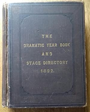 The Dramatic Year Book For The Year Ending December 31st 1891