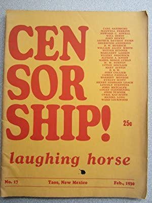 Laughing Horse Presents a Symposium of Criticism, Comment and Opinion on the Subjedct of Censorship...