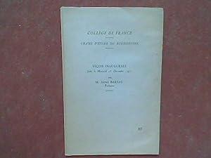 Collège de France - Chaire d'Etude du: BAREAU André