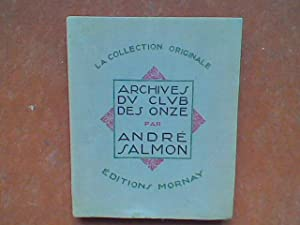 Archives du Club des Onze