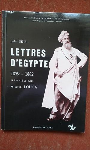 Lettres d'Egypte 1879-1882: NINET John