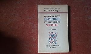 Comportement économique et structures sociales: NICOLAÏ André