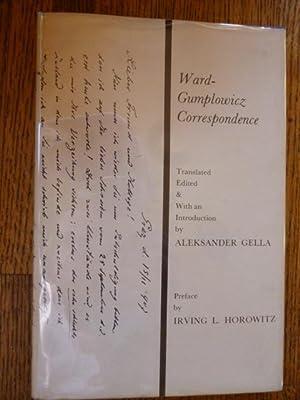 Ward-Gumplowicz Correspondence: 1897-1909: Gella, Aleksander (Ed)
