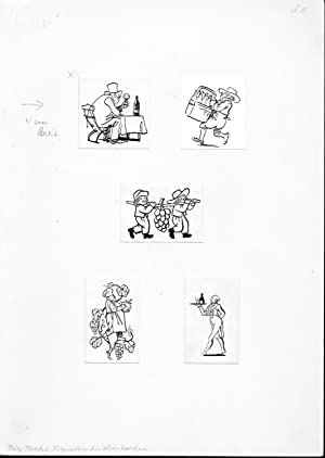 Two sheets with illustrations for publications?]: Kredel Fritz