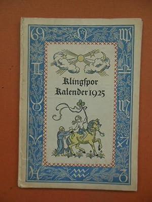 Klingspor Kalender 1925 (German): Harwerth, Wilhem