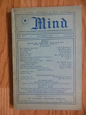 Mind Magazine; The Leading Exponent of New Thought December, 1904