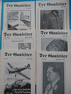 Der Gauleiter The Journal for the Militaria Collector (6 consecutive issues, 1991)