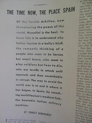 Ken Magazine April 7, 1938 (Volume I; Number 1 (Premeir Issue): Hemingway, Ernest; Arnold Gingrich ...