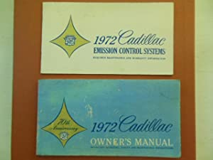 1972 Cadillac Owner's Manual; 1972 Cadillac Emissions Control Systems (In Original Plastic ...