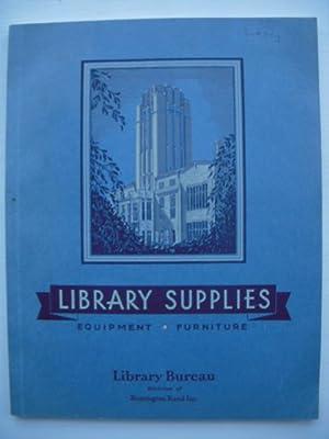 Library Bureau Library Supplies Catalog 1942