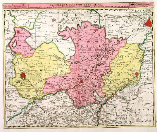 FLANDRIAE COMITATUS PARS MEDIA Map Of Central Flanders The - Pars map