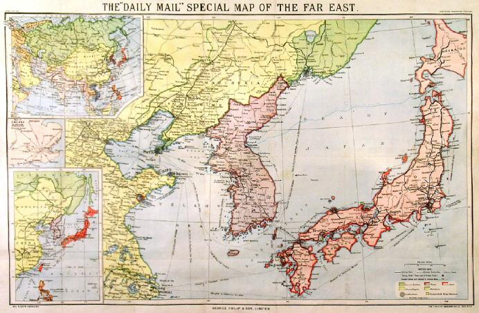 The Daily Mail Special Map Of The Far East Map Of Japan Korea