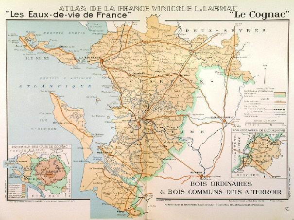 Cognac Region Of France Map.Les Eaux De Vie De France Le Cognac Map Of Charent Maritime The
