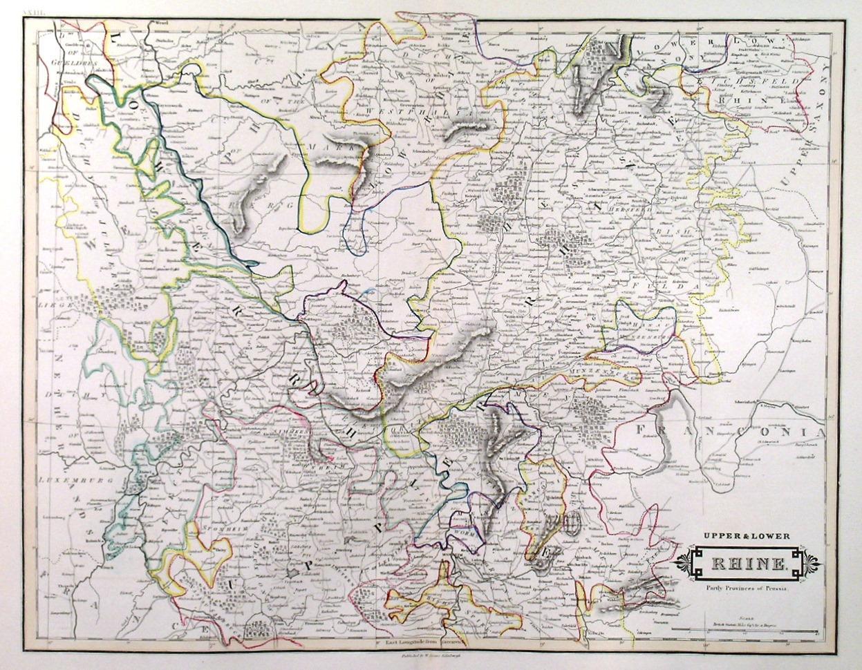 Map Of Central Germany.Upper Lower Rhine Map Of Rheinland Pfalz