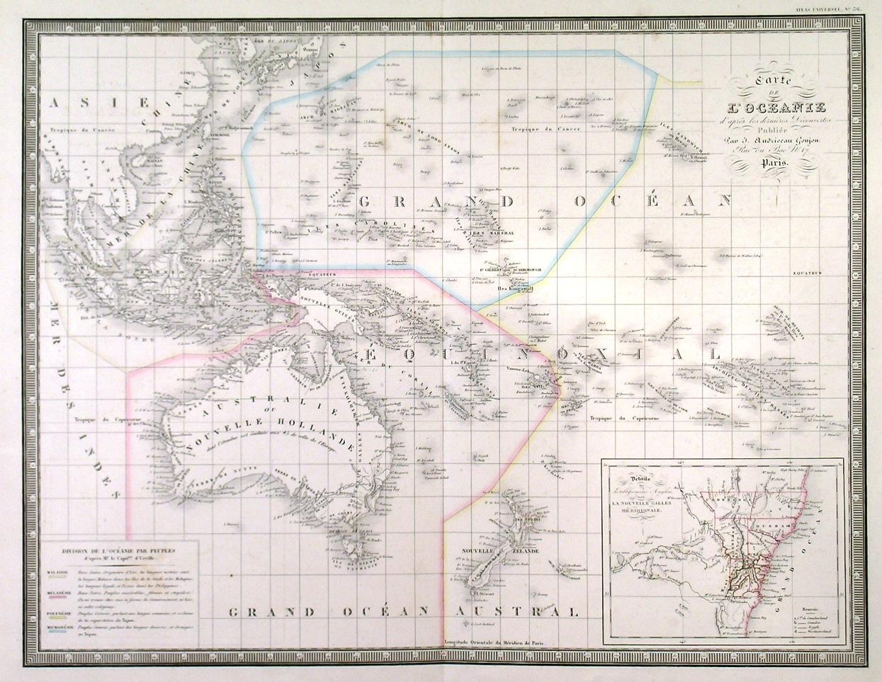 Carte Map Australia.Carte De L Oceanie Map Of Australia East