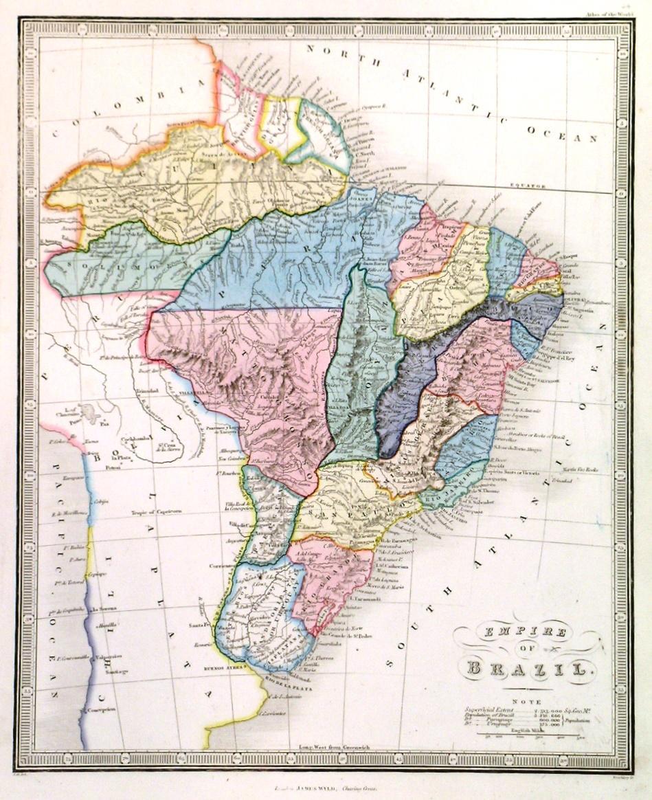 EMPIRE OF BRAZIL'. Map of Brazil.