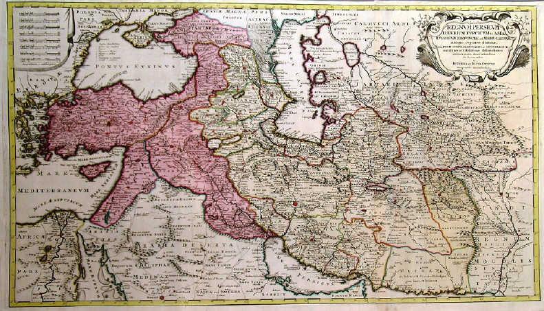 Map Of Upper Asia.Regnum Persicum Imperium Turcicum In Asia