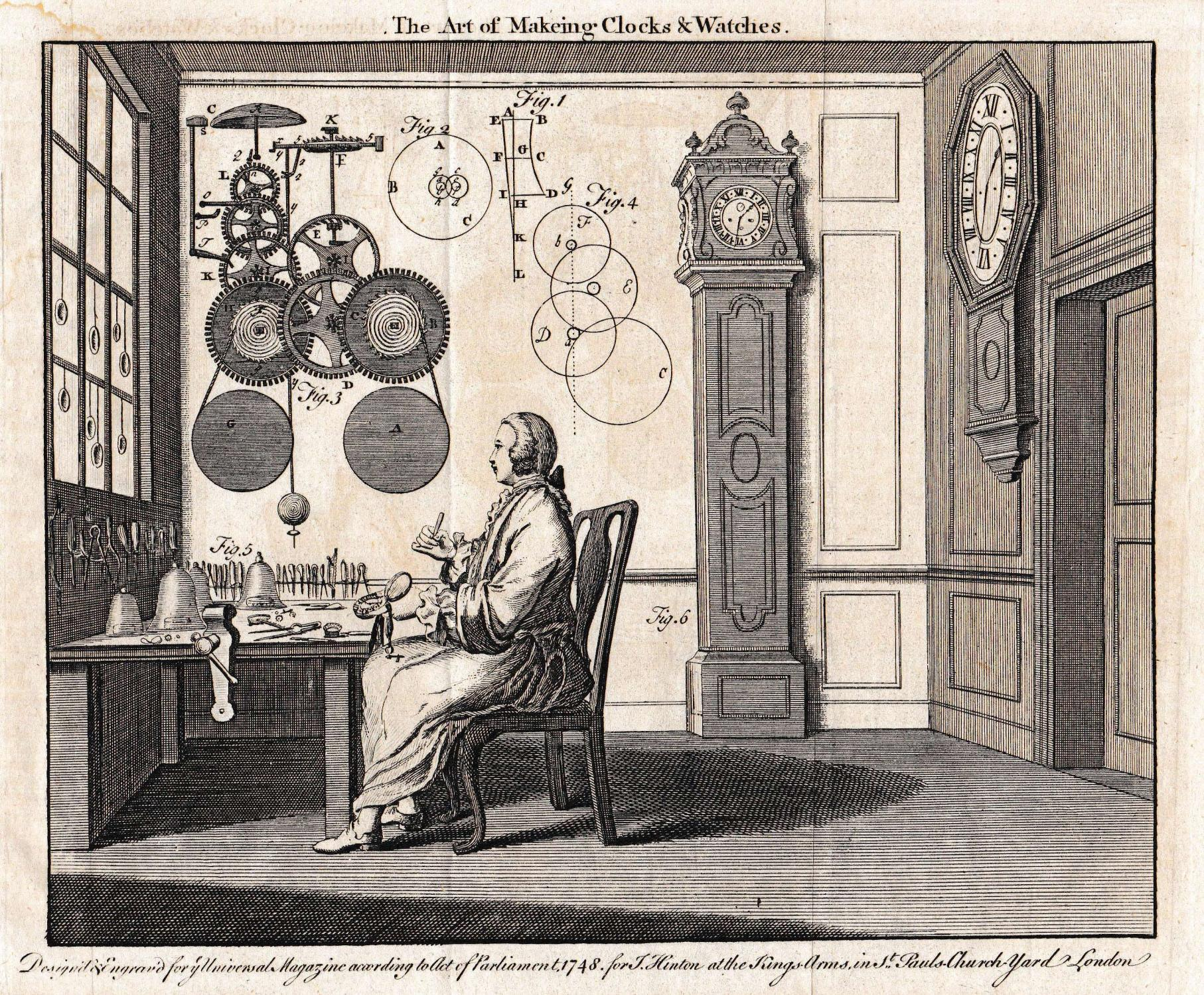 THE ART OF MAKEING CLOCKS & WATCHES .: Hinton, J.