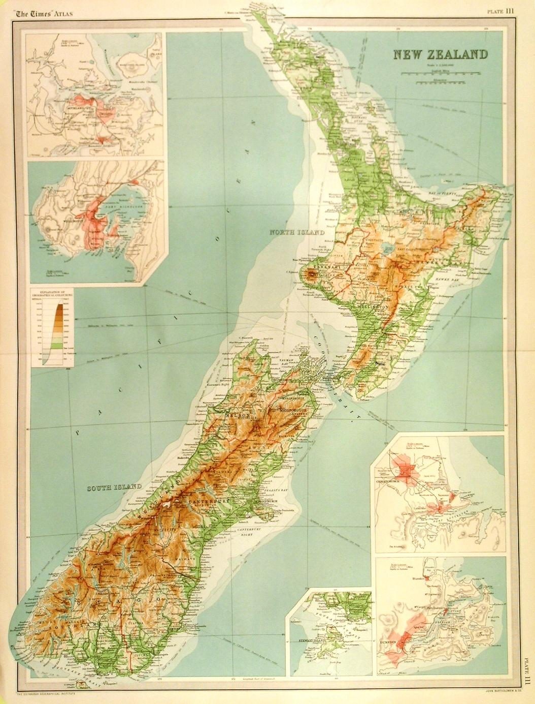 Detailed Map Of New Zealand.New Zealand Detailed Map Of New Zealand