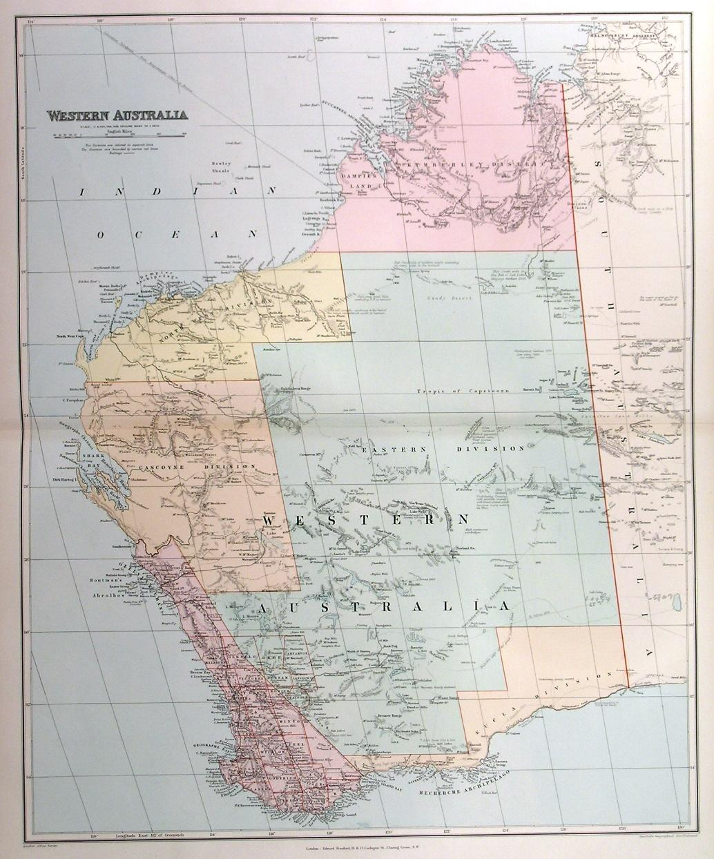 Australia Map Detailed.Western Australia A Large More Detailed