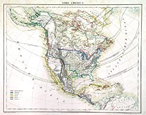 NORD AMERICA . North America and West Indies. Texas is shown as an independent Republic in the s...