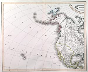 AMERICA . Large map of the American hemisphere, printed on 4double sheets, not joined.