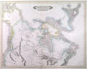 NORTH AMERICA. BRITISH POSSESSIONS . Map of Canada, incl. Alaska (Russian Territory) and Greenland.
