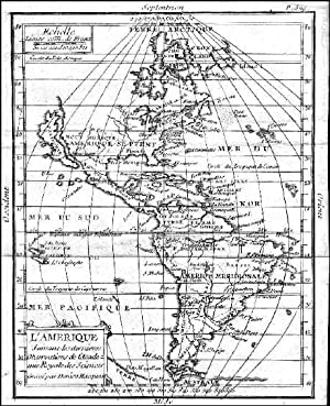L AMERIQUE SUIVANT LES DERNIERES OBSERVATIONS. . Map of North and South America. California is s...