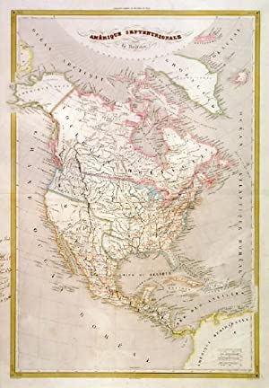 AMÉRIQUE SEPTENRIONALE . Map of North America, showing Texas as an independent Republic. Engrave...