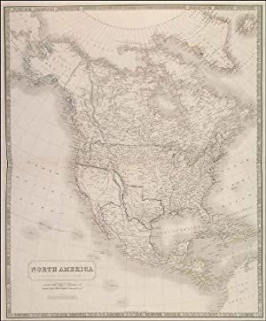 NORTH AMERICA . Texas is shown as an independent Republic with the Pan-handle. There is a note st...