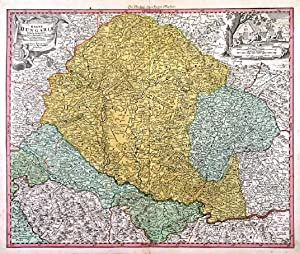 REGNI HUNGARIAE TABULA GENERALIS. . Map of Hungary and Slovakia and adjacent parts of Croatia, S...