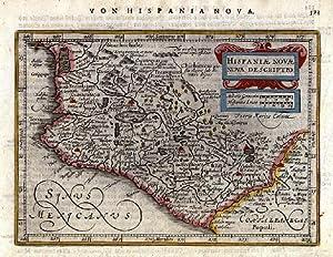 HISPANIAE NOVAE NOVA DESCRIPTIO'. Central Mexico with: Mercator, G. /