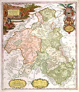 WALDECCIAE. . Map of the Waldeck region in: Homann Heirs.