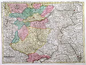 PARTIE MERIDIONALE DE MOSCOVIE . Map of southern Russia between Moscow and Black and Caspian Sea...
