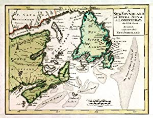 NEW FOUNDLAND OD. TERRA NOVA S. LAVRENTII BAY . . Map of Newfoundland and Nova Scotia.