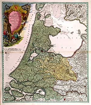 TABULA COMITATUS HOLLANDIAE. . Map of Holland, the: Homann Heirs.