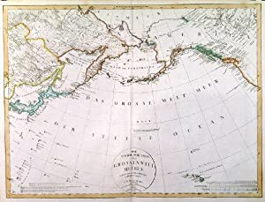 DER NOERDLICHE THEIL DES GROSSEN WELT MEERES. . North Pacific with Japan, Kamchatka, Alaska, the...