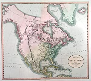 A NEW MAP OF NORTH AMERICA. . Map of North America, West Indies and Central America.