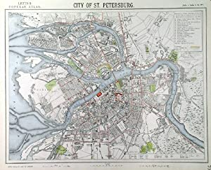 CITY OF ST. PETERSBURG . Plan of St. Petersburg.