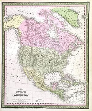 MAP OF NORTH AMERICA .
