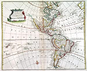 A NEW GENERAL MAP OF AMERICA. . Map of North and South America.