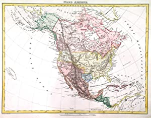 'NORD AMERICA'. Texas is shown as an independent Republic within its own borders, California and ...
