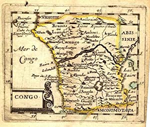 GUINEE . Map of West Africa between Senegal and Congo.
