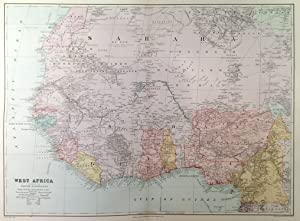 WEST AFRICA SHOWING THE BRITISH POSSESSIONS . A very detailed map, 94 English miles to the inch....