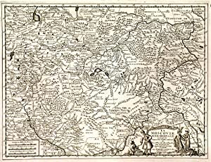 LA MOSCOVIE MERIDIONALE, SUIVANT LES NOUVELLES OBSERVATIONS . Map of southern Russia (Europe).