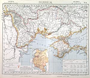 RUSSIA . Sheet No. 8 of Lett s nine sheet map of Russia, showing the Crimea and Ukraine up to al...