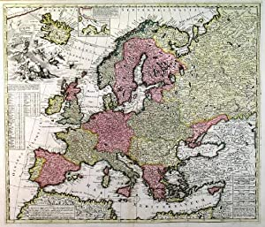 EUROPAE IN TABULA GEOGRAPHICA DELINEATIO'. Map of: Zürner, A. F.