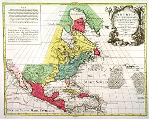'AMERICA SEPTENTRIONALIS.'. North American continent and West Indies with unattached (insular) Ca...